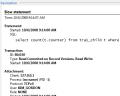 sinatica monitor slow statement alarm